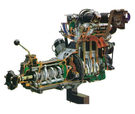 4サイクル4気筒ガソリンエンジン